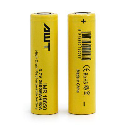 2 x Original AWT IMR 18650 Li-ion Battery