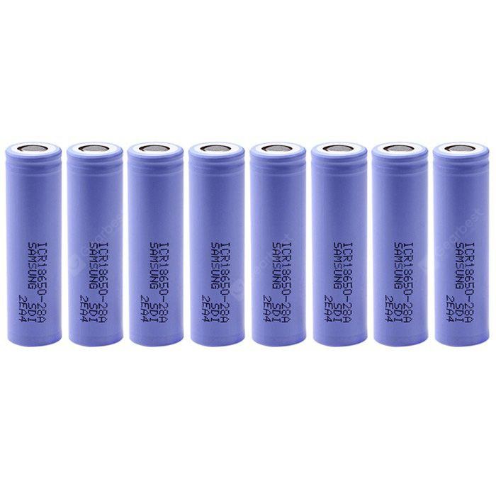 8 x ICR18650 - 28A 18650 2800mAh 3.7V Lithium-ion Battery
