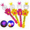 Magic Wand and Crown Design Flashing Toy - 1pc - COLORMIX