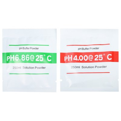 2PCS 250ml Solution pH Buffer Powder for Meter Calibration