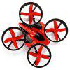 NIHUI NH - 010 Mini RC Quadcopter - RED WITH BLACK