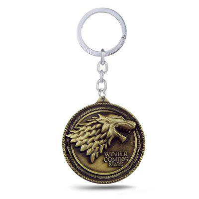 Keyring Family Badge Model Pendant Decoration Alloy