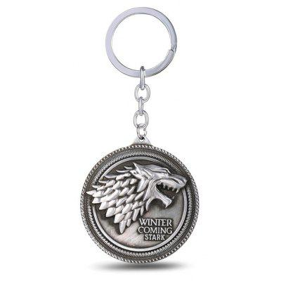 Keyring Family Badge Model Pendant Decoration Alloy – SILVER