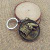 Keyring Family Badge Model Pendant Decoration Alloy - GOLDEN
