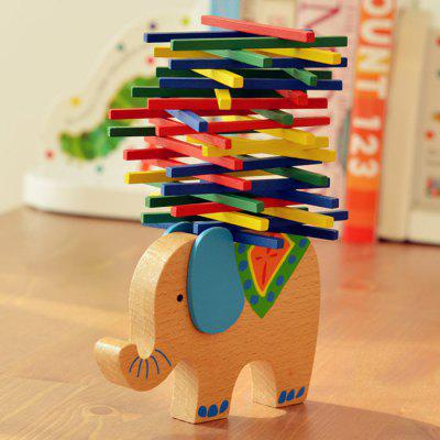 Wooden Elephant Balance Building Block