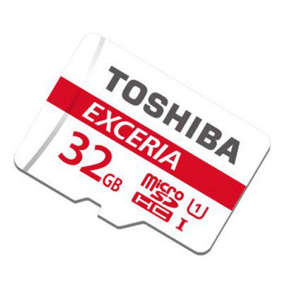 TOSHIBA Exceria 32GB Micro SDHC UHS-I Memory Card 48MB/s Class 10 Waterproof X-ray Proof Shock Proof