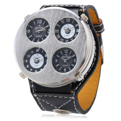V6 Super Speed Fashion Four Movements Men Quartz Watch