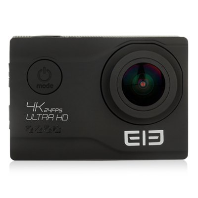 Vente flash-Elephone EleCam Explorer Elite 4K Action Camera  -  BLACK