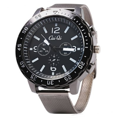 CaiQi A312 Casual Decorative Sub-dial Men Quartz Watch