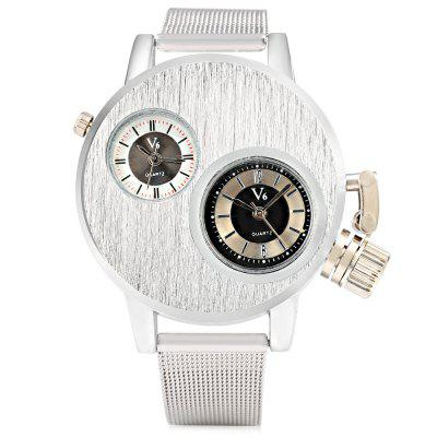 V6 6007 Casual Style Dual Movt Men Quartz WatchMens Watches<br>V6 6007 Casual Style Dual Movt Men Quartz Watch<br><br>Available Color: Silver<br>Band material: Steel<br>Band size: 23.6 x 1.8 cm / 9.29 x 0.71 inches<br>Brand: V6<br>Case material: Stainless Steel<br>Clasp type: Pin buckle<br>Dial size: 4 x 4 x 1.2 cm / 1.97 x 1.97 x 0.47 inches<br>Display type: Analog<br>Movement type: Quartz watch<br>Package Contents: 1 x V6 6007 Casual Men Quartz Watch<br>Package size (L x W x H): 24.60 x 6.00 x 2.20 cm / 9.69 x 2.36 x 0.87 inches<br>Package weight: 0.105 kg<br>Product size (L x W x H): 23.60 x 5.00 x 1.20 cm / 9.29 x 1.97 x 0.47 inches<br>Product weight: 0.069 kg<br>Shape of the dial: Round<br>Watch style: Casual<br>Watches categories: Male table<br>Wearable length: 17.5 - 21.8 cm / 6.89 - 8.58 inches