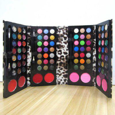 RC125B Cosmetic Set Multi - color Eyeshadow / Blusher / Lip Gloss / Pressed Powder Leather Bag