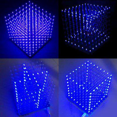 8 x 8 x 8 Color LED 3D Light Cube for DIY Project