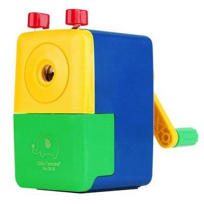 Deli Cartoon Style Manual Pencil SharpenerSchool Supplies<br>Deli Cartoon Style Manual Pencil Sharpener<br><br>Available Color: Blue,Green,Yellow<br>Brand: Deli<br>Package Contents: 1 x Deli Cartoon Style Pencil Sharpener, 1 x Bilingual Manual in English and Chinese<br>Package size (L x W x H): 11.20 x 6.40 x 11.30 cm / 4.41 x 2.52 x 4.45 inches<br>Package weight: 0.248 kg<br>Product size (L x W x H): 10.20 x 5.40 x 10.30 cm / 4.02 x 2.13 x 4.06 inches<br>Product weight: 0.209 kg<br>Type: Manual Sharpeners