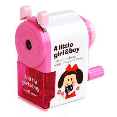 Deli Cartoon Little Girl / Boy  Style Manual Pencil SharpenerSchool Supplies<br>Deli Cartoon Little Girl / Boy  Style Manual Pencil Sharpener<br><br>Available Color: Blue,Red<br>Brand: Deli<br>Package Contents: 1 x Deli Cartoon Little Girl / Boy Style Pencil Sharpener<br>Package size (L x W x H): 10.00 x 5.20 x 10.00 cm / 3.94 x 2.05 x 3.94 inches<br>Package weight: 0.1700 kg<br>Pen Lead Diameter: 6mm<br>Pen Type: Pencil<br>Product size (L x W x H): 9.00 x 4.20 x 9.00 cm / 3.54 x 1.65 x 3.54 inches<br>Product weight: 0.1330 kg<br>Type: Manual Sharpeners