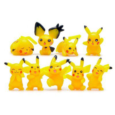 9pcs / set Characteristic Figure Model Toy
