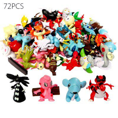 Lovely Little Monster Figure Model Collection 72pcs