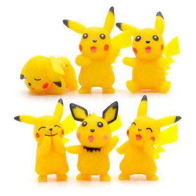 6pcs / set Characteristic Figure Model Toy