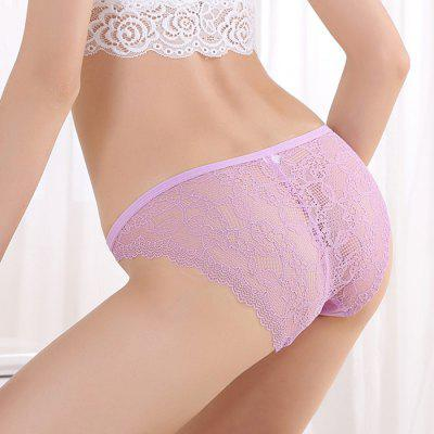 Women Cotton Sexy Mid-waist Underwear Briefs T-back