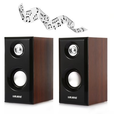 JITENG JT042 2.0 Woodiness Multimedia Computer Speakers