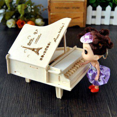 Wooden Music Box Piano