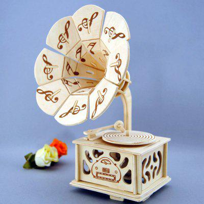 Music Box Phonograph Shape