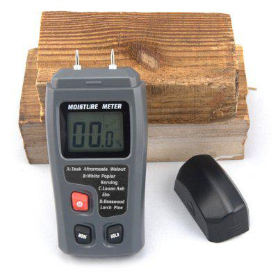 BSIDE EMT01 Portable Wood Moisture Meter with LCD Display xinbaokeyi concrete wall moisture meter detector md917 metope humidity tester range 0 40%