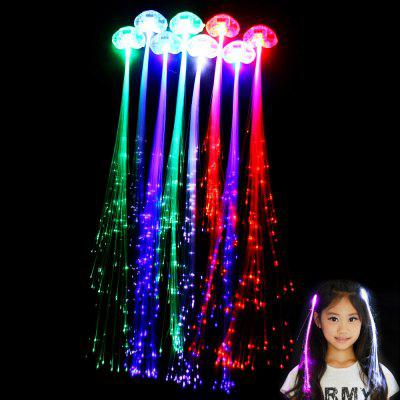 5pcs Novelty LED Glowing Hair Braid Decoration for Party