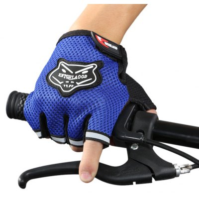 Breathable Half-fingers Cycling Gloves with Reflective Stripe