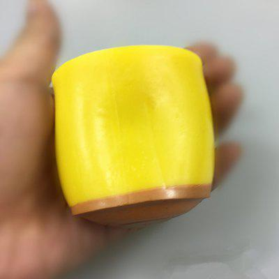 Flexible Yolk Figure Ball Squeezing Pudding Style Vent Toy