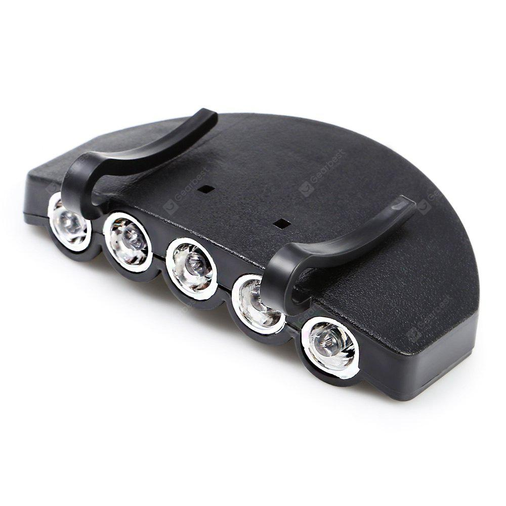 2 Modes 60LM 5 LEDs Clip Hat Light Fishing Lamp
