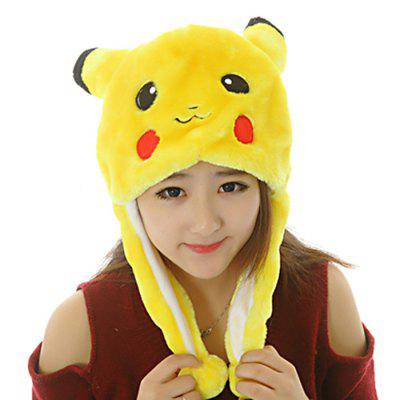 Cartoon Pattern Plush Winter Hat Performing Props Cap