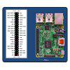 GPIO Quick Reference Ruler for Raspberry Pi 3B / 2B / B+ - BLUE