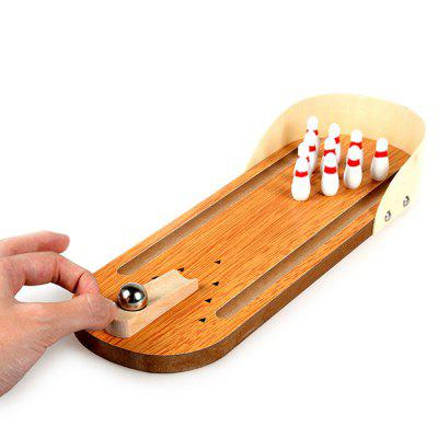Mini Wooden Bowling Set
