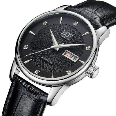 BOS 9016G Casual 3ATM Men Automatic Mechanical Watch