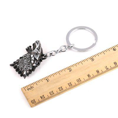 Wolf Head Model Zinc Alloy Pendant Decor KeyringKey Chains<br>Wolf Head Model Zinc Alloy Pendant Decor Keyring<br><br>Age: 3 Years +<br>Design Style: Fashion<br>Gender: Unisex<br>Materials: Metal, Zinc Alloy<br>Package Contents: 1 x Key Chain<br>Package size: 9.50 x 5.50 x 1.50 cm / 3.74 x 2.17 x 0.59 inches<br>Package weight: 0.040 kg<br>Product size: 9.00 x 4.00 x 1.00 cm / 3.54 x 1.57 x 0.39 inches<br>Product weight: 0.037 kg<br>Stem From: Europe and America<br>Theme: Movie and TV