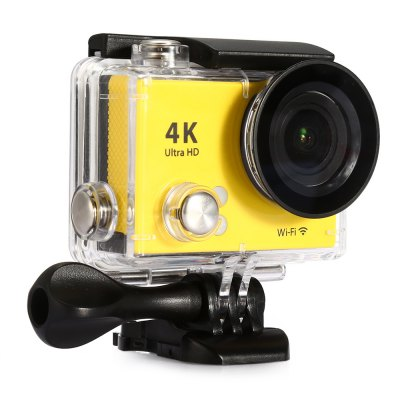 H2 Ultra HD 4K WiFi Small Action CameraAction Cameras<br>H2 Ultra HD 4K WiFi Small Action Camera<br><br>Battery Type: Removable<br>Camera Pixel: 12.0 megapixel<br>Capacity: 1050mAh<br>Charge way: USB charge by PC<br>Chipset: Sunplus SPCA6350<br>Chipset Name: Sunplus<br>Class Rating Requirements: Class 10 or Above<br>Decode Format: H.264<br>Delay Shutdown: Yes<br>Exposure Compensation: +0.3,+0.7,+1,+1.3,+1.7,+2,-0.3,-0.7,-1,-1.3,-1.7,-2,0<br>Features: Wireless<br>Frequency: 50Hz,60Hz,Auto<br>Function: Loop-cycle Recording<br>HDMI Output: Yes<br>Image Format: JPEG<br>Interface Type: TF Card Slot, Micro USB, Micro HDMI<br>ISO: Auto<br>Language: Dutch,English,French,German,Italian,Japanese,Korean,Polski,Portuguese,Russian,Spanish,Traditional Chinese,Turkish<br>Loop-cycle Recording: Yes<br>Max External Card Supported: TF 32G (not included)<br>Model: H2<br>Package Contents: 1 x H2 4K WiFi Action Camera, 1 x Waterproof Case, 1 x Flat Mount Base, 1 x Curved Base, 1 x Backpack Clip, 1 x Tripod Mount Adapter, 1 x 1/4 inch Mount Adapter, 1 x USB Cable (About 0.5m Length), 1 x<br>Package size (L x W x H): 28.00 x 17.00 x 7.00 cm / 11.02 x 6.69 x 2.76 inches<br>Package weight: 0.5500 kg<br>Product size (L x W x H): 5.90 x 2.90 x 4.10 cm / 2.32 x 1.14 x 1.61 inches<br>Product weight: 0.0610 kg<br>Scene: Auto<br>Screen resolution: 320x240<br>Screen size: 2.0inch<br>Screen type: TFT<br>Time Stamp: Yes<br>Type: Sports Camera<br>Video format: MOV<br>Video Output: HDMI<br>Video Resolution: 1080P (1920 x 1080),2.7K (2704 x 1524),4K (4096 x 2160)<br>Waterproof: Yes<br>Waterproof Rating: 30m underwater with waterproof case<br>White Balance Mode: Auto<br>Wide Angle: 170 degree wide angle<br>WIFI: Yes<br>WiFi Distance: 10m<br>WiFi Function: Image Transmission,Remote Control,Settings,Sync and Sharing Albums<br>Working Time: Up to 90 minutes at 1080P 30fps, 50 minutes at 4K 25fps