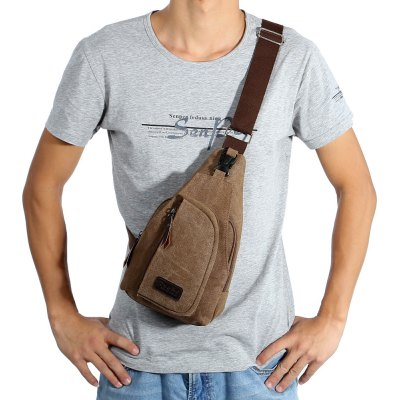 5L Male Leisure Canvas Sports Sling Bag