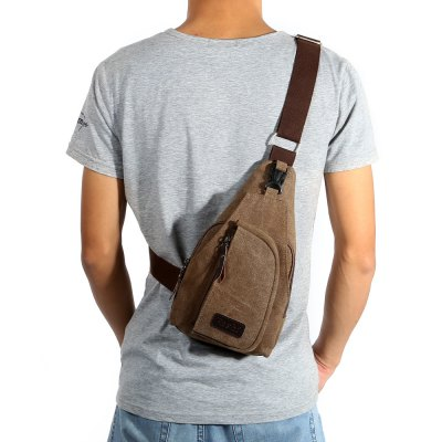 5L Male Leisure Canvas Sports Sling BagSling Bag<br>5L Male Leisure Canvas Sports Sling Bag<br><br>Bag Capacity: 5L<br>Capacity: 1 - 10L<br>For: Casual, Cycling, Hiking, Mountaineering, Travel<br>Gender: Men<br>Material: Canvas<br>Package Contents: 1 x Sports Sling Bag<br>Package size (L x W x H): 21.00 x 20.00 x 4.00 cm / 8.27 x 7.87 x 1.57 inches<br>Package weight: 0.2400 kg<br>Product size (L x W x H): 30.00 x 10.00 x 17.00 cm / 11.81 x 3.94 x 6.69 inches<br>Product weight: 0.2230 kg<br>Type: Sling Bag