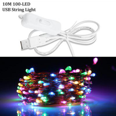10M USB 100 x 0603 5V 6W Wasserdichte LED String Light Bendable Kupferdraht