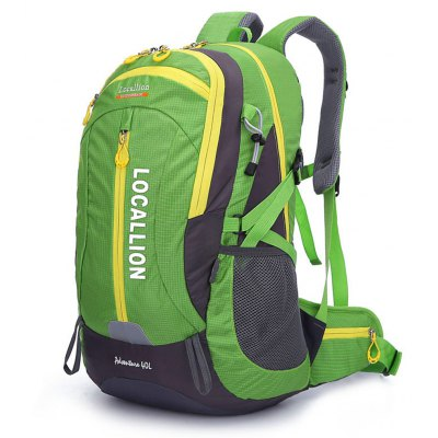 Buy GREEN LOCAL LION 40L Water Resistant Trekking Backpack for $30.10 in GearBest store