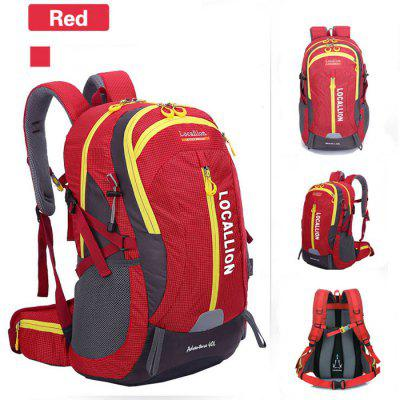 Buy RED LOCAL LION 40L Water Resistant Trekking Backpack for $30.10 in GearBest store