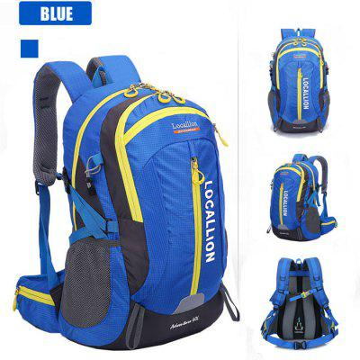 Buy BLUE LOCAL LION 40L Water Resistant Trekking Backpack for $30.10 in GearBest store