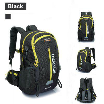 Buy BLACK LOCAL LION 40L Water Resistant Trekking Backpack for $30.10 in GearBest store