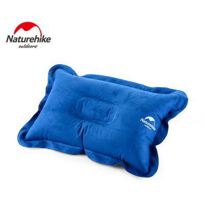 NatureHike InflatableSoft Air Inflation Suede Fabric Pillow for Camping Car Driving