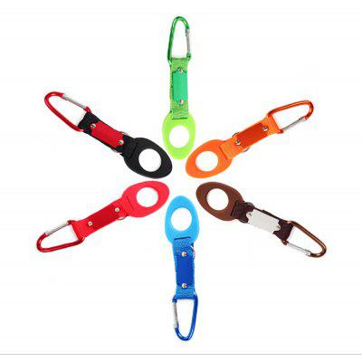 H116 2pcs Stylish Rubber Outdoor D Shape Hang Bottle Buckle