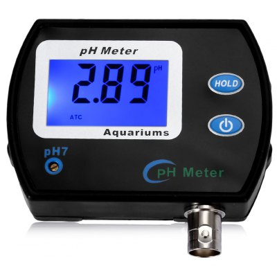 Buy BLACK Digital pH Meter LCD Display Tester for Aquarium Water Quality for $39.87 in GearBest store