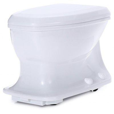 Simulation Mini 27MHz RC Flush Toilet for Party Kid Gift Game