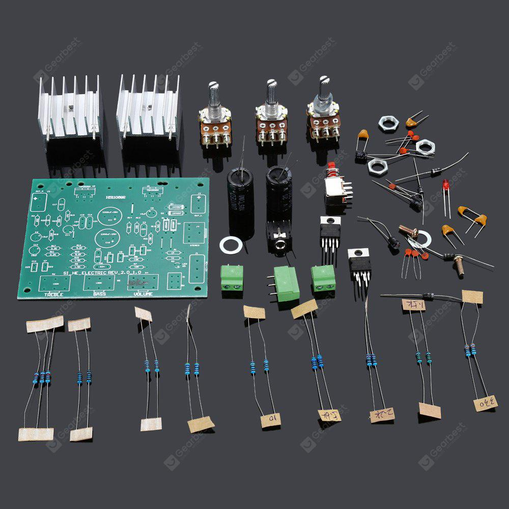 Tda2030a Dual Track Power Amplifier Board Diy Kit 644 Free Audio Digital Thermometer With Pic16f84 Circuit Shipping