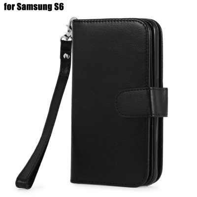 Crazy-horse PU Leather Protective Case for Samsung Galaxy S6