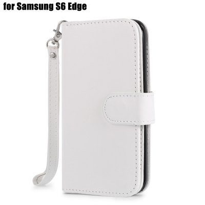 Crazy-horse PU Leather Protective Case for Samsung Galaxy S6 Edge